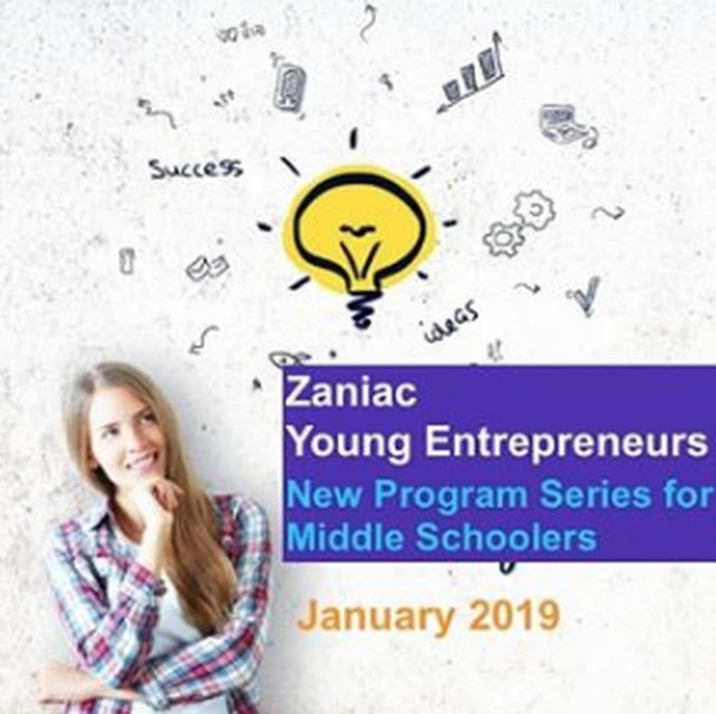 Zaniac Launches Young Entrepreneurs starting January 2019